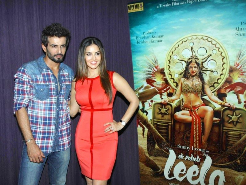 Jay Bhanushali and Sunny Leone at one of the events to promote Ek Paheli Leela. The film is banking on Sunny's oomph factor and sensual appeal. (IANS)