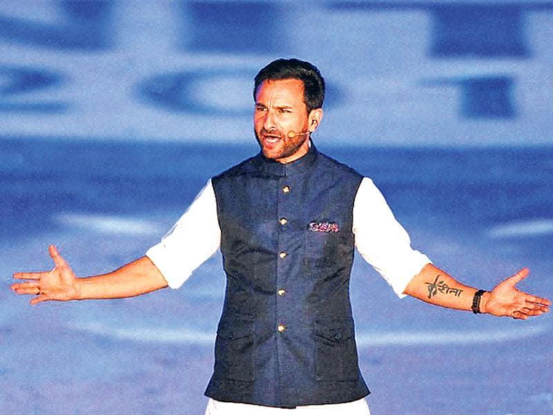Saif Ali Khan hosted the opening ceremony at IPL 2015. (PTI Photo)