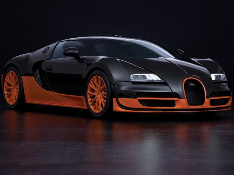 Bugatti Veyron 16.4 Super Sport: 9.9 sec @ 145.8 mph (234.6 kph) : It might be fifth on the drag racing list but it is number one in all other respects. The Veyron, which has just finished its 10-year production run is the fastest road-legal car in automotive history, once it gets past the first 400 meters. Photo:AFP