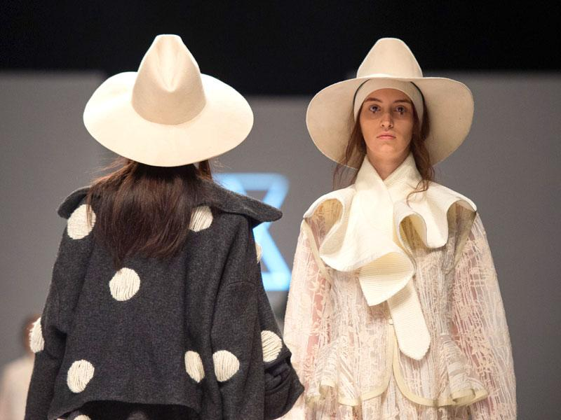 Models parade a creation from the Ban Xiaoxue collection during the Shanghai Fashion Week in Shanghai. (AFP)