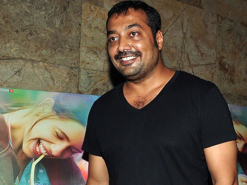 Filmmaker Anurag Kashyap attends the special screening of upcoming Hindi film 'Margarita with a straw', written and directed by Shonali Bose, in Mumbai on April 8, 2015. (AFP Photo)