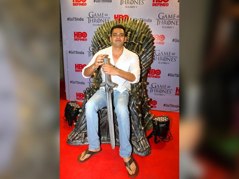 Actor Cyrus Sahukar at the premiere of film Game of Thrones Season 5 in Mumbai on April 9, 2015. (IANS)