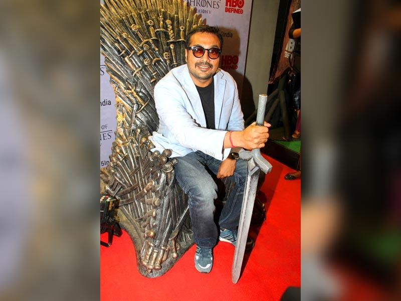Filmmaker Anurag Kashyap at the premiere of film Game of Thrones Season 5 in Mumbai on April 9, 2015. (IANS)