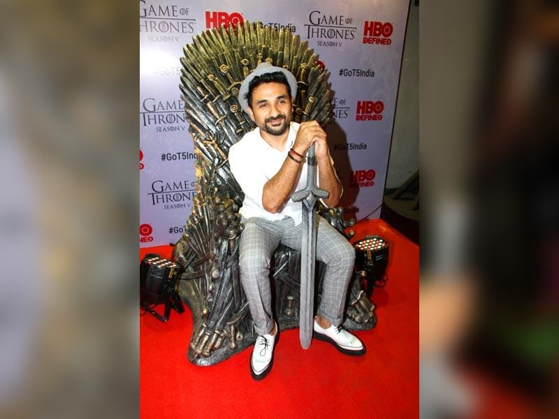 Actor Vir Das at the premiere of film Game of Thrones Season 5 in Mumbai on April 9, 2015. (IANS)