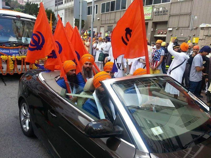 Nagar Kirtan in Hong-Kong ahead of Baisakhi.HT/ Photo