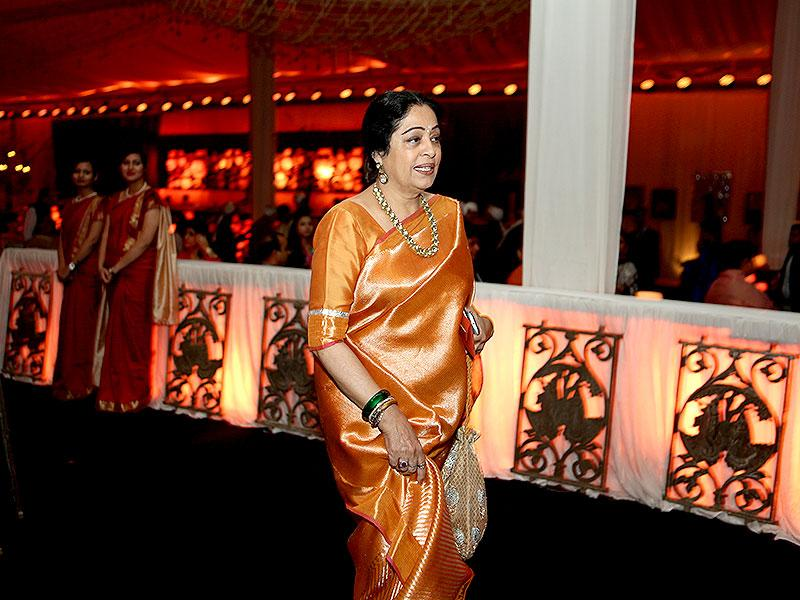 Kirron Kher at the wedding reception. (HT photo/Rajesh Kashyap)