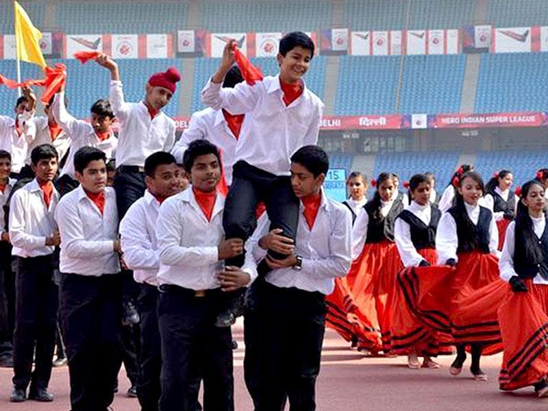 Mount Carmel School, Anand Niketan, celebrated its annual day at Jawaharlal Nehru Stadium. The theme for the event was 'Touching Continents, Breaking Barriers'. The mascot for the event, the monarch butterfly, symbolised freedom, hope, unity and oneness. The students presented dances from different parts of the world. Photo/HT PACE