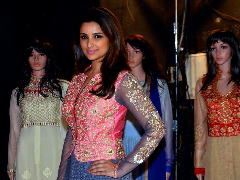 Actor Parineeti Chopra kick-started the ad campaign of a fashion-lifestyle brand in Mumbai. (IANS Photo)