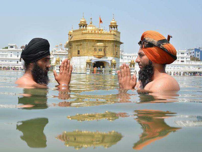 Devotees across Punjab and Haryana on Tuesday thronged the Gurdwaras, including Golden Temple at Amritsar, to mark Baisakhi festival which is being celebrated with great fervour and enthusiasm.