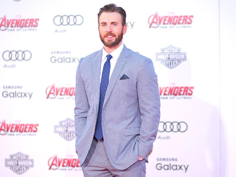 Chris Evans attends the premiere of Marvel's Avengers: Age Of Ultron. (AFP photo)
