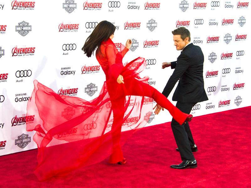 When so many Avengers come together, a fight seems to be order. Actors Ming-Na Wen and Jeremy Renner give fans exactly what they want. (AFP photo)