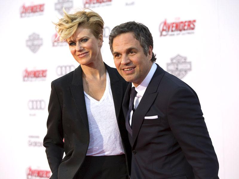 We catch 'The Hulk' Mark Ruffalo in a mellow mood with wife Sunrise Coigney in tow. (AFP photo)