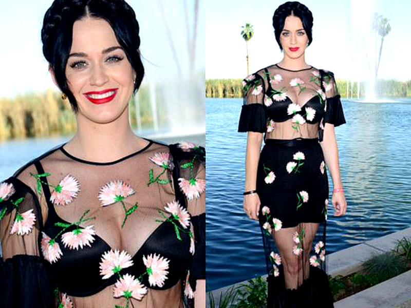 We think Katy Perry's shockingly sheer dress screams ultimate festival glamour. And that halo braid does it for us.