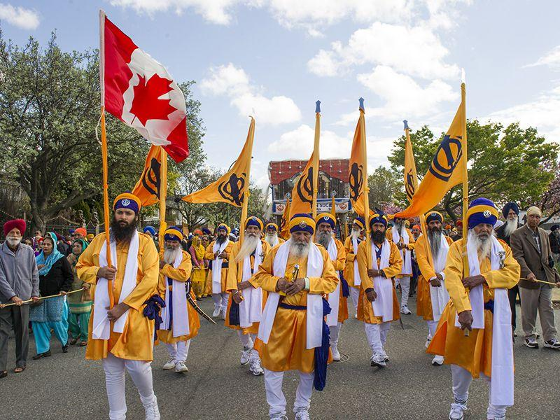 Nagar Kirtan being taken out as a part of Vancouver Vaisakhi Parade 2015. Vancouverdesi.com