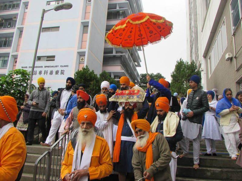 Nagar Kirtan in Hong-Kong. HT/Photo