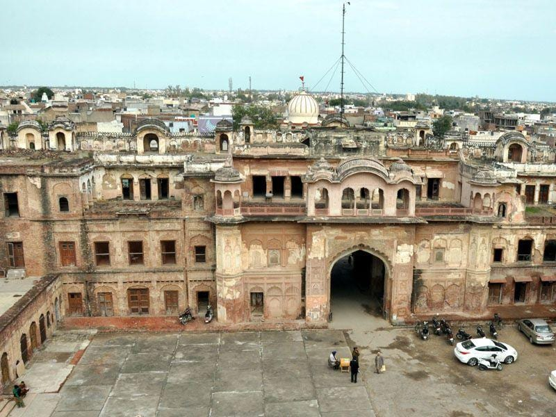Quila Mubarak was first built as a kachigarhi (mud fortress) by Baba Ala Singh in 1763.Bharat Bhushan/HT