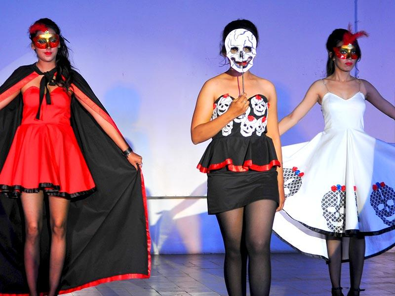 A collection, titled 'Death by the Mexican Shores', was based on a Mexican festival describing the day of death. (Keshav Singh/HT Photo)