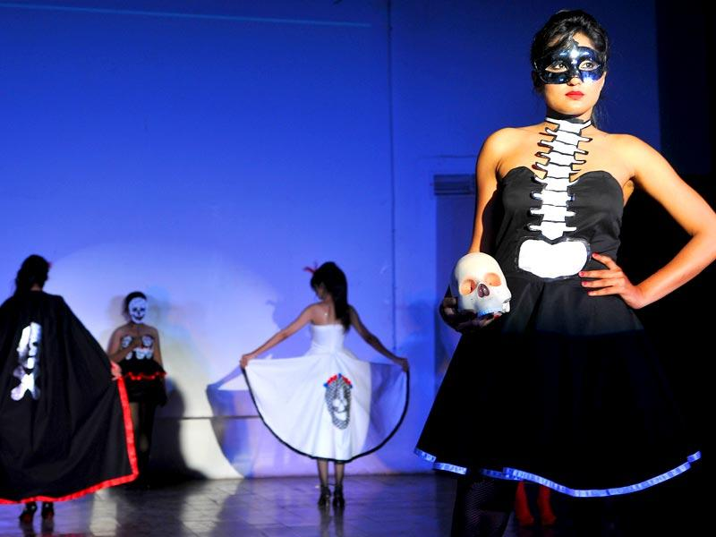 PU's annual design collection, 'Shears and Ruban' is a ritualistic production of original and creative work by masters degree students of University Institute of Fashion and Technology, presented after months of hard work and toil. (Keshav Singh/HT Photo)
