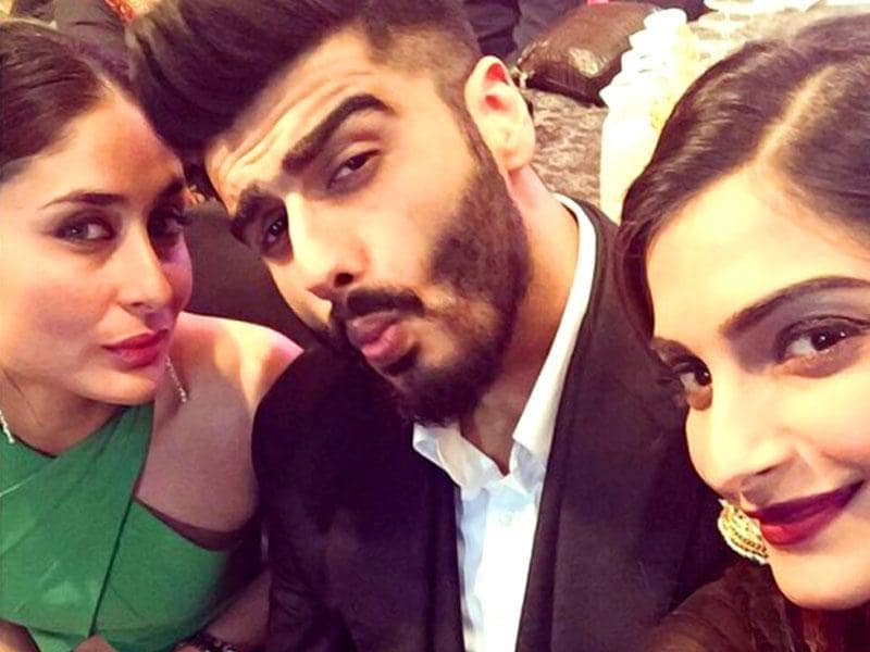 What do Bollywood's Kapoors do when they come together at an event? Take epic Sunday selfies, or at least that's what Arjun Kapoor is calling this one which also features Kareena and Sonam. (Courtesy: Twitter)