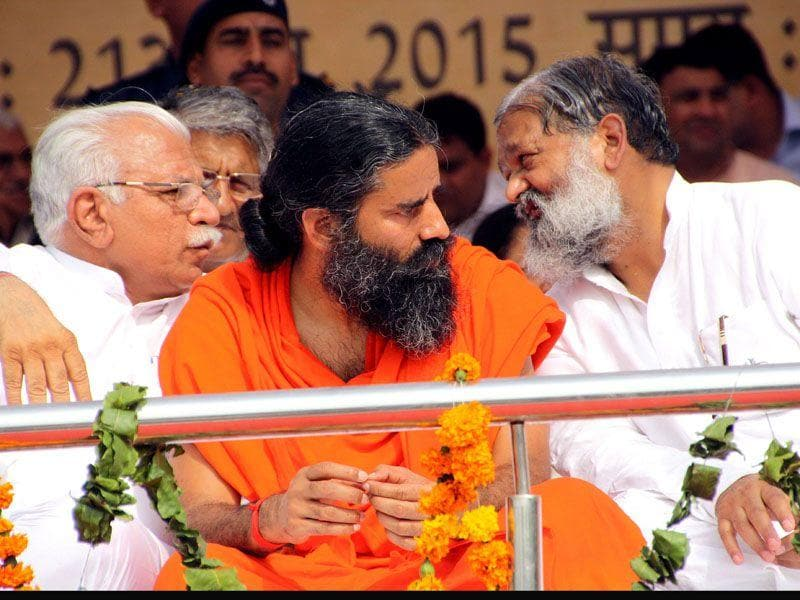 Ramdev had faced flak for his views on homosexuality, which he describes as a curable mental illness. Manoj Dhaka/HT