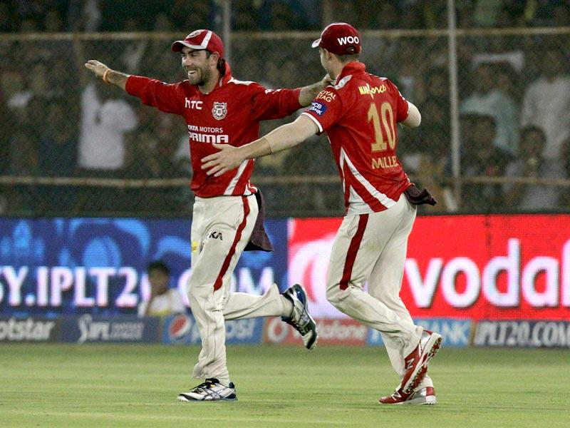 Kings XI Punjab players celebrate wicket of Steven Smith of Rajasthan Royals during the IPL match against Kings XI Punjab in Ahmedabad. (PTI Photo)