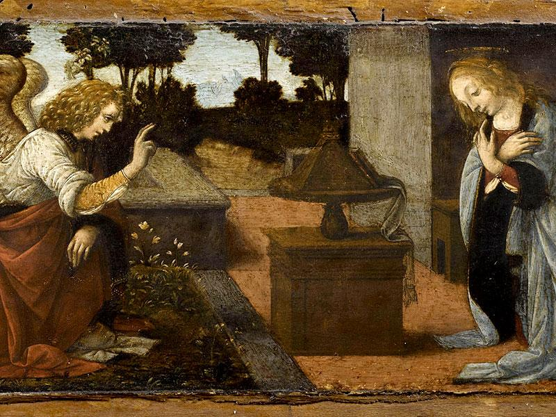 'The Annunciation' (1478-1480) Oil and tempera on panel will be shown at the Milan exhibit.