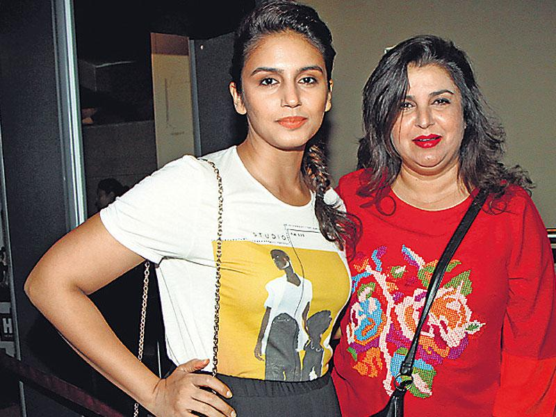Huma Qureshi and Farah Khan at Avengers screening. (HT photo/Pradeep Guha)