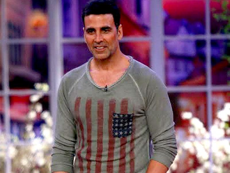Akshay Kumar on the sets of Comedy Nights with Kapil.