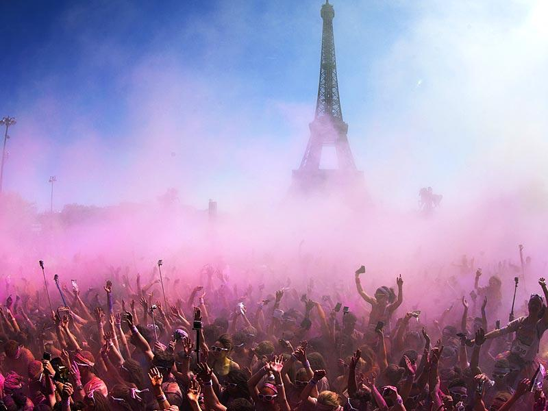 Paris: People participate in the