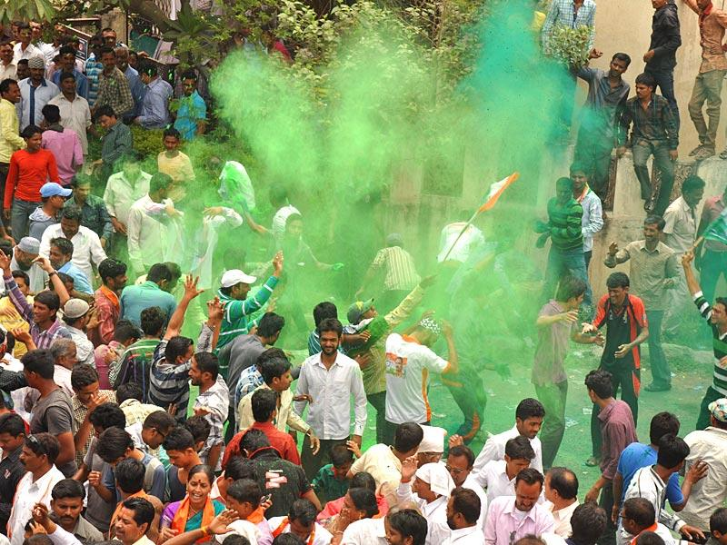 Hyderabad-based party AIMIM registered an impressive performance, winning 25 seats in the Aurangabad municipal corporation elections in its maiden outing there.