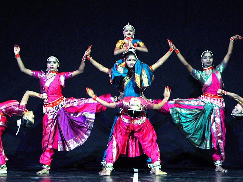 Children perform at a show at NCPA in Mumbai. (Arijit Sen/HT photo)