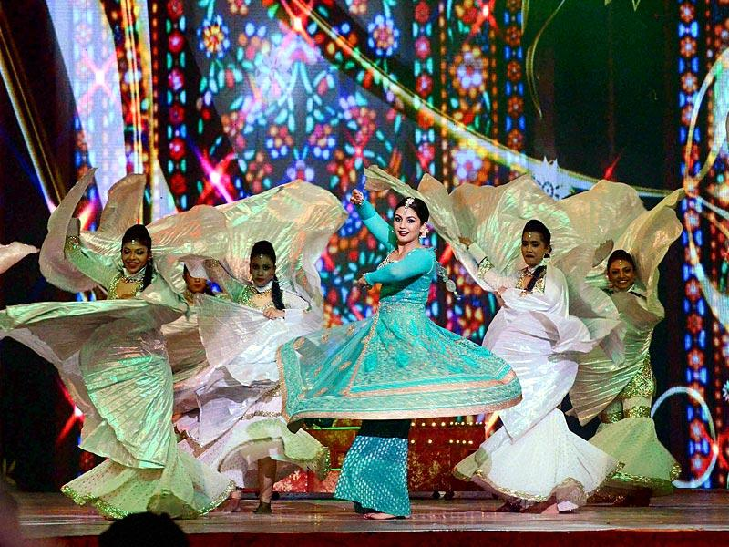 Actor-MP Hema Malini has ensured her Sri Krishna Mahotsav in Mathura is a star-studded extravaganza. Huma Qureshi performs during the event. (PTI photo)