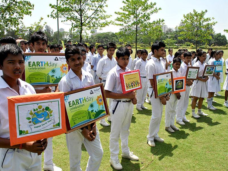 Aster Public School, Greater Noida, officially opened the intramurals and celebrated Earth Day on the theme 'Save Earth, Save Environment'. The students conducted an 'awareness campaign' to instil the thought of living in a healthier environment from the school premises to the city park. (Photo/HT PACE)