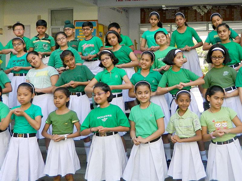 On the occasion of the Earth Day, the students and teachers of Mount Carmel School, Anand Niketan organised a small function. A mime was presented by the senior group students highlighting the devastating effects of poaching on animals. A skit was showcased to depict the significance of water as a natural resource and the need to judiciously use and conserve this valuable resource. (Photo/ HT PACE)