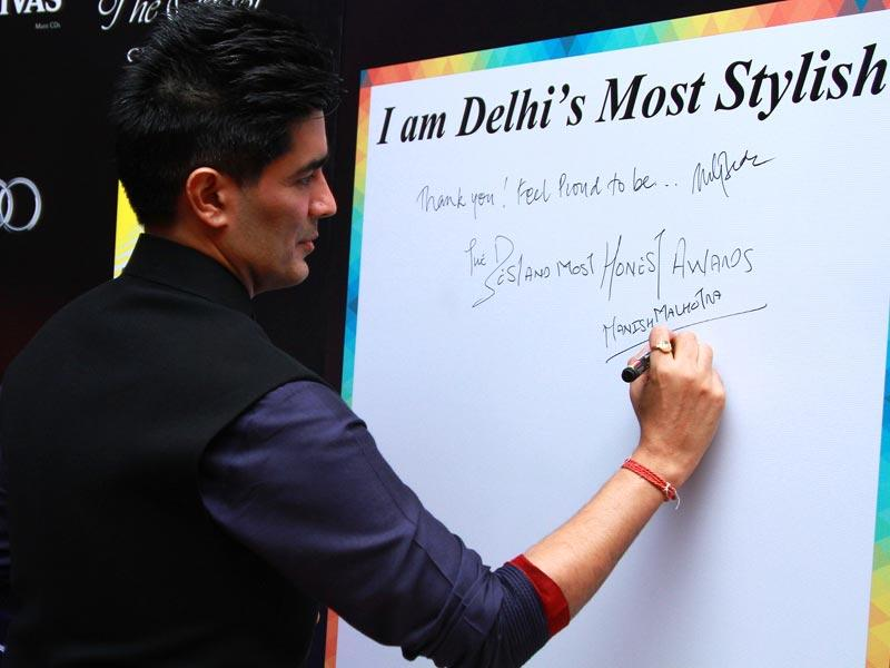 Manish Malhotra, the favourite designer of the most fashion-forward celebs in Bollywood at the do. (Waseem Gashroo/HT)