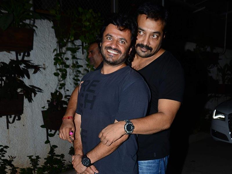 Filmmakers Vikas Bahl and Anurag Kashyap during the special screening of Bombay Velvet in Mumbai on 1st May, 2015. (Photo: IANS)