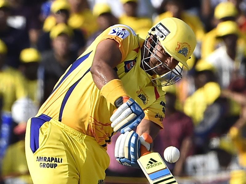 Chennai Super Kings' (CSK's) Suresh Raina bats against Royal Challengers Bangalore (RCB) during his team's IPL 2015 match at MA Chidambaram Stadium in Chepauk, Chennai. (Virendra Singh Gosain/HT Photo)