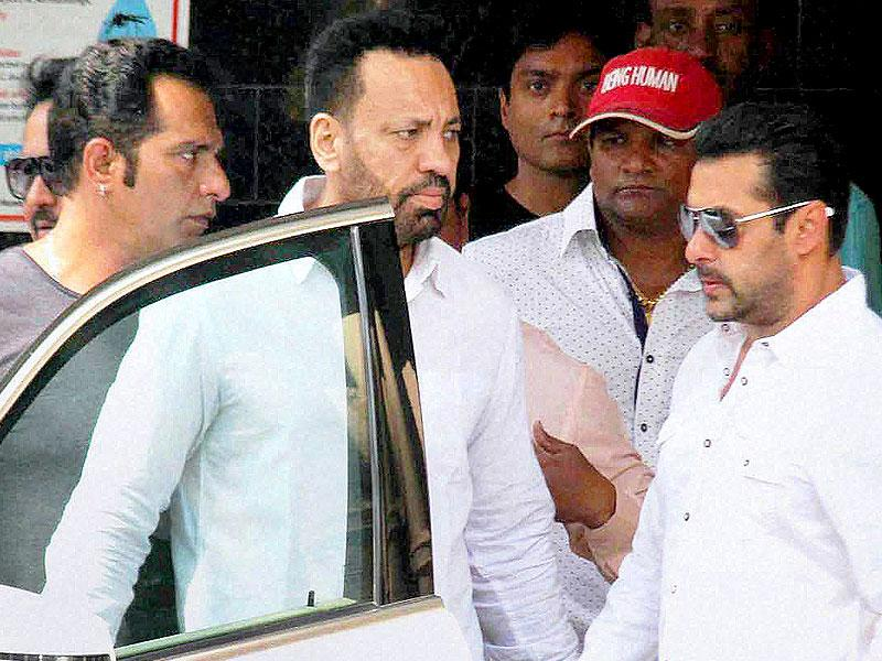 Salman Khan leaves his residence for the Sessions Court on Wednesday. (PTI Photo)