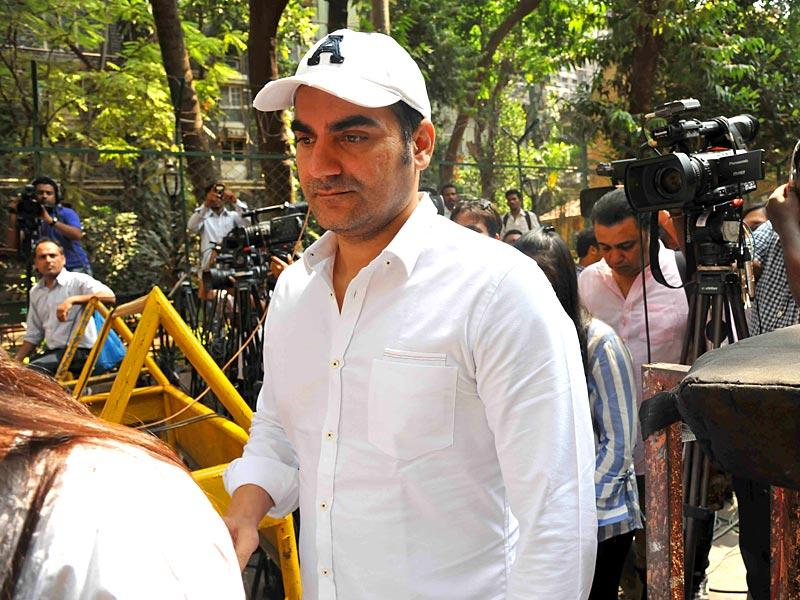 Actor Salman Khan's brother, Arbaaz Khan arrives at the sessions court in Mumbai. (IANS Photo)