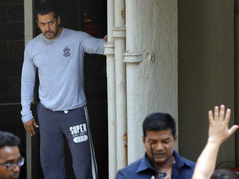 Salman Khan was sentenced to five years imprisonment in the 2002 hit-and-run case. The actor has been granted interim relief till Friday. (Satish Bate/HT photo)