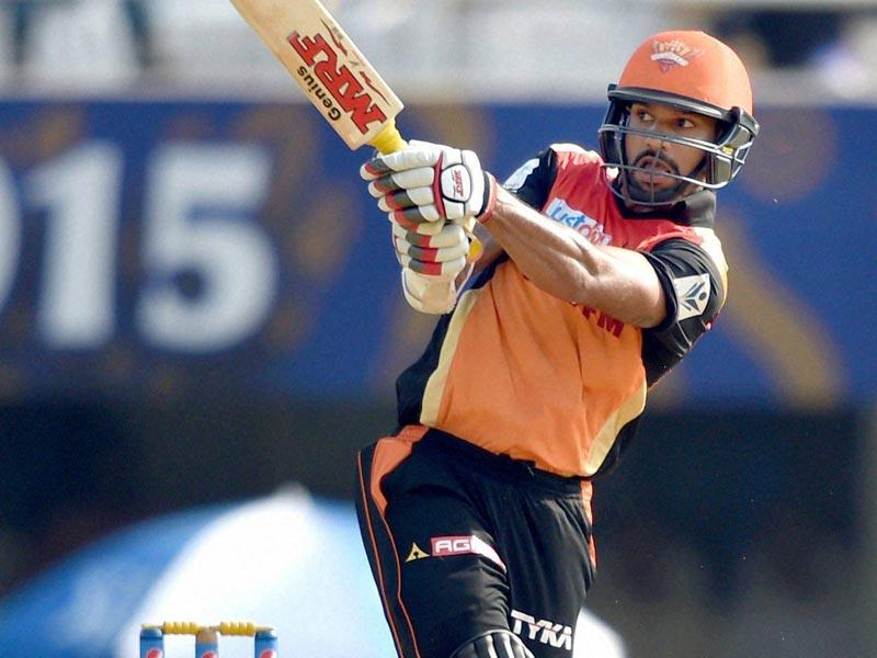 Shikhar Dhawan smashed 54 off 35 balls to set the tone for SRH to post a big total. (PTI Photo)
