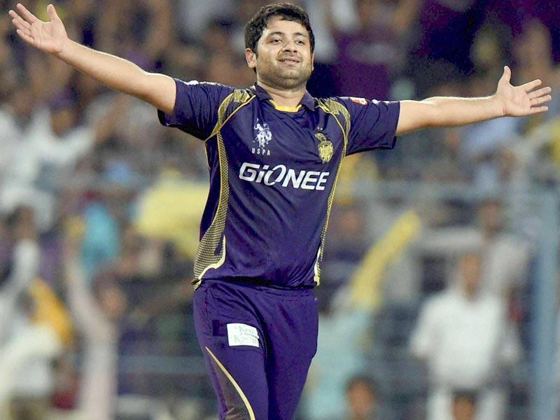 KKR leggie Piyush Chawla (4/32) claimed three wickets in two overs to derail the Delhi chase. (PTI Photo)