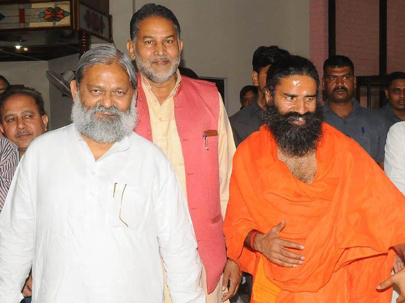 Ramdev said that he was working closely with Haryana government by having projects which will channelise the energies of youth in positive direction. HT Photo
