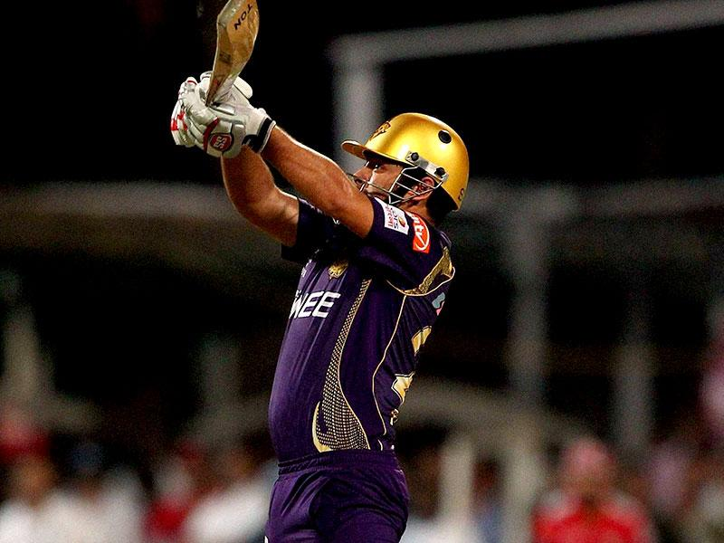 KKR's Piyush Chawla struck a vital six off Anureet Singh to bring his team closer to the target. (PTI Photo)