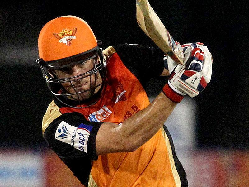 SRH's Moises Henriques hit an unbeaten 74 off 46 balls to power his team to 163/4 against DD in Raipur on Saturday. (PTI Photo)