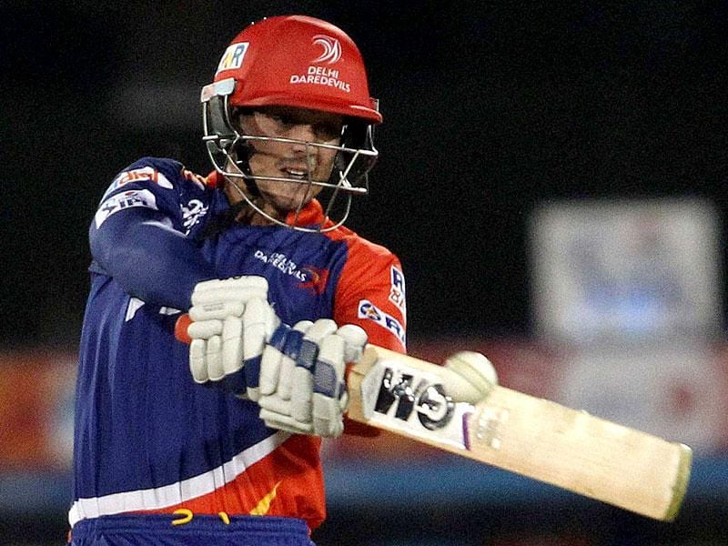 Daredevils opener Quinton de Kock struck a 31-ball 50 to set his team on course, but the middle order stumbled. (PTI Photo)