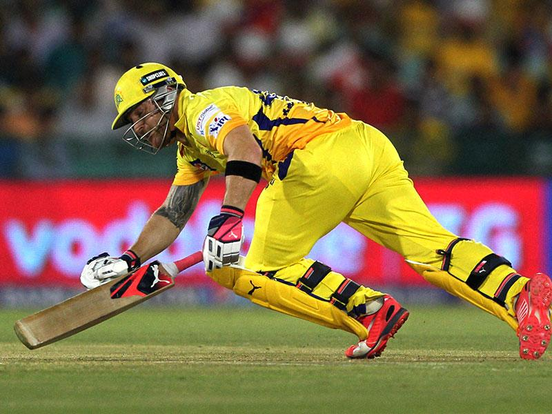 CSK's feared opener Brendon McCullum failed to get going and scored 11 off 21 balls before falling to Zaheer. (PTI Photo)