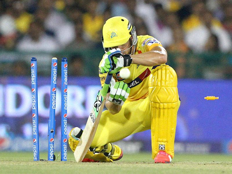 Faf du Plessis top-scored for CSK with a 23-ball 29 before he was castled by Albie Morkel. (PTI Photo)