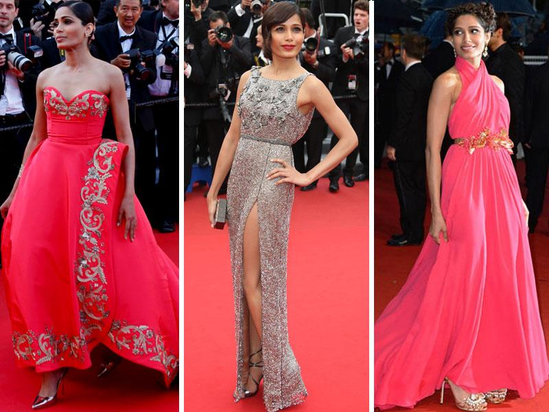 Freida Pinto is a regular at Cannes and a regular entrant to the best dressed actor's list at the red carpet. She has carried off everything from Gucci to Armani and looked amazing in every one of them.
