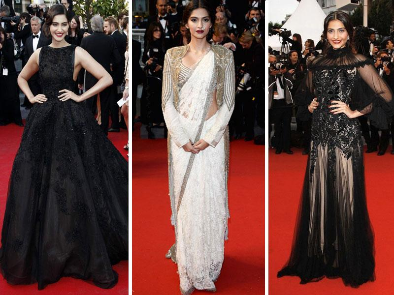 In ethnic or a stylish gown, Sonam Kapoor looks classy in them all. Here are few of our favourite looks of the actor at Cannes.